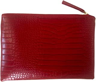 Women Clutches Crocodile Grain PU Leather Envelope Clutch Bag