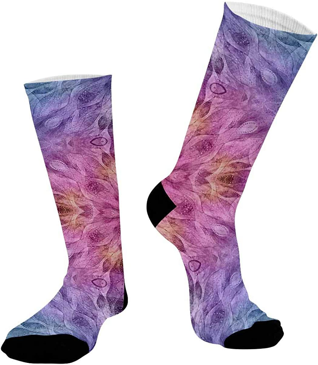 INTERESTPRINT Sublimated Crew Casual Athletic Socks Colorful Ethnic Pattern