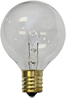 Sival - Replacement Globe Light Bulb, G50, 7W/130V, E17 Base, Clear, 25 Pack