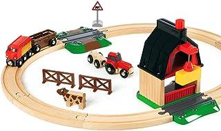 Brio 33719 Farm Railway Set, 20 Pieces Train Set,Green