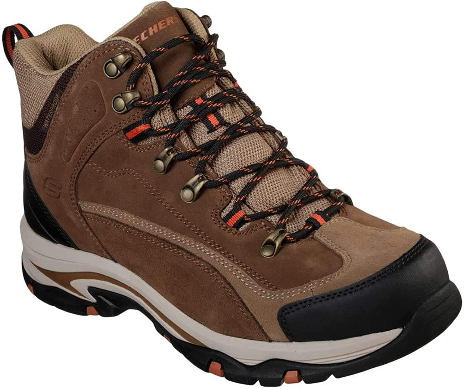 Skechers Men's Mid Suede Lace Up Boot Hiking