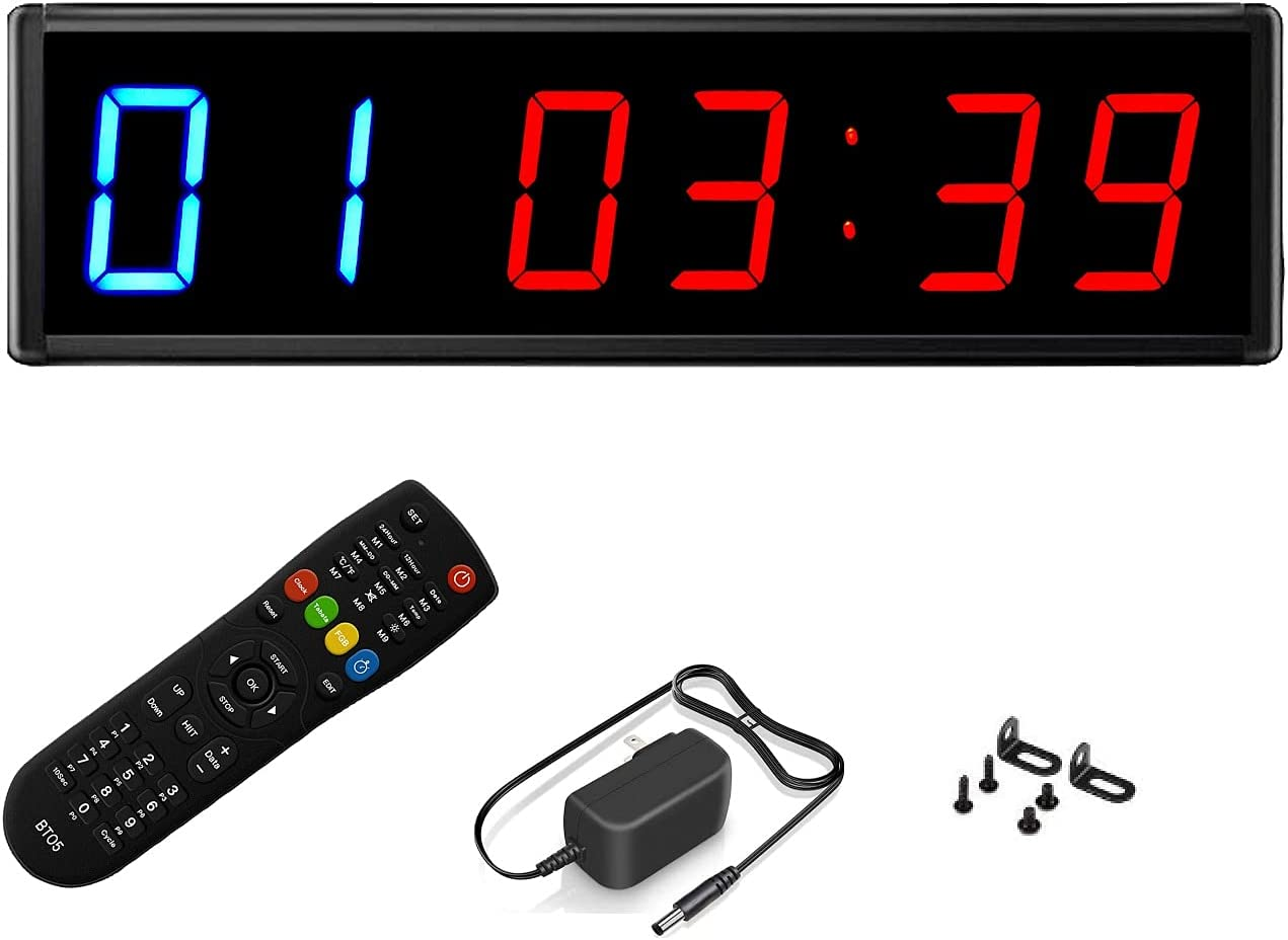 BTBSIGN LED Save money Interval Timer Fitness Gym Down Stop Timers Very popular Count Up