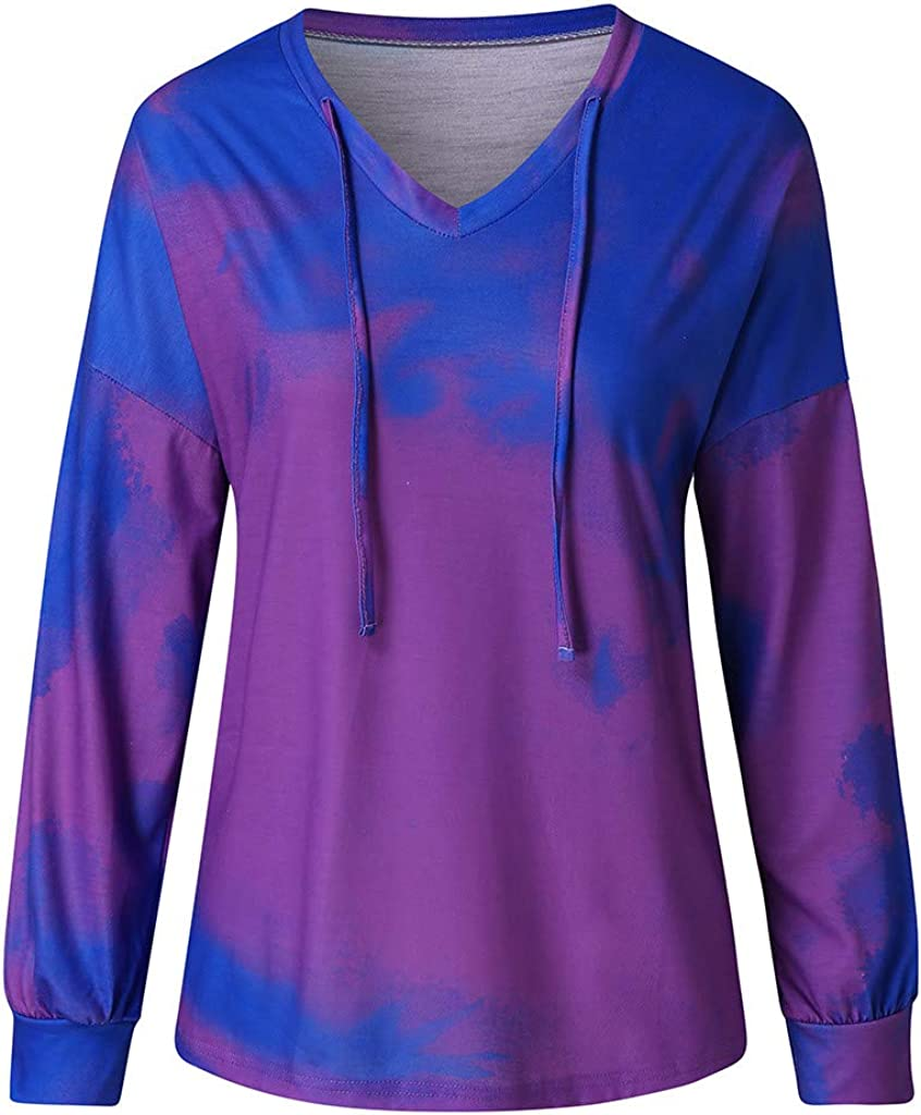 Columbus Mall F_topbu 2020 Pullover Top for Women V-Neck Sweatshi Sleeve Long New product! New type