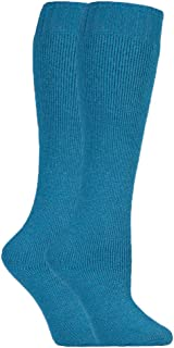 mujer 2 pares invierno calientes grusos largos vistoso calcetines lana para botas de agua 37-42 eur