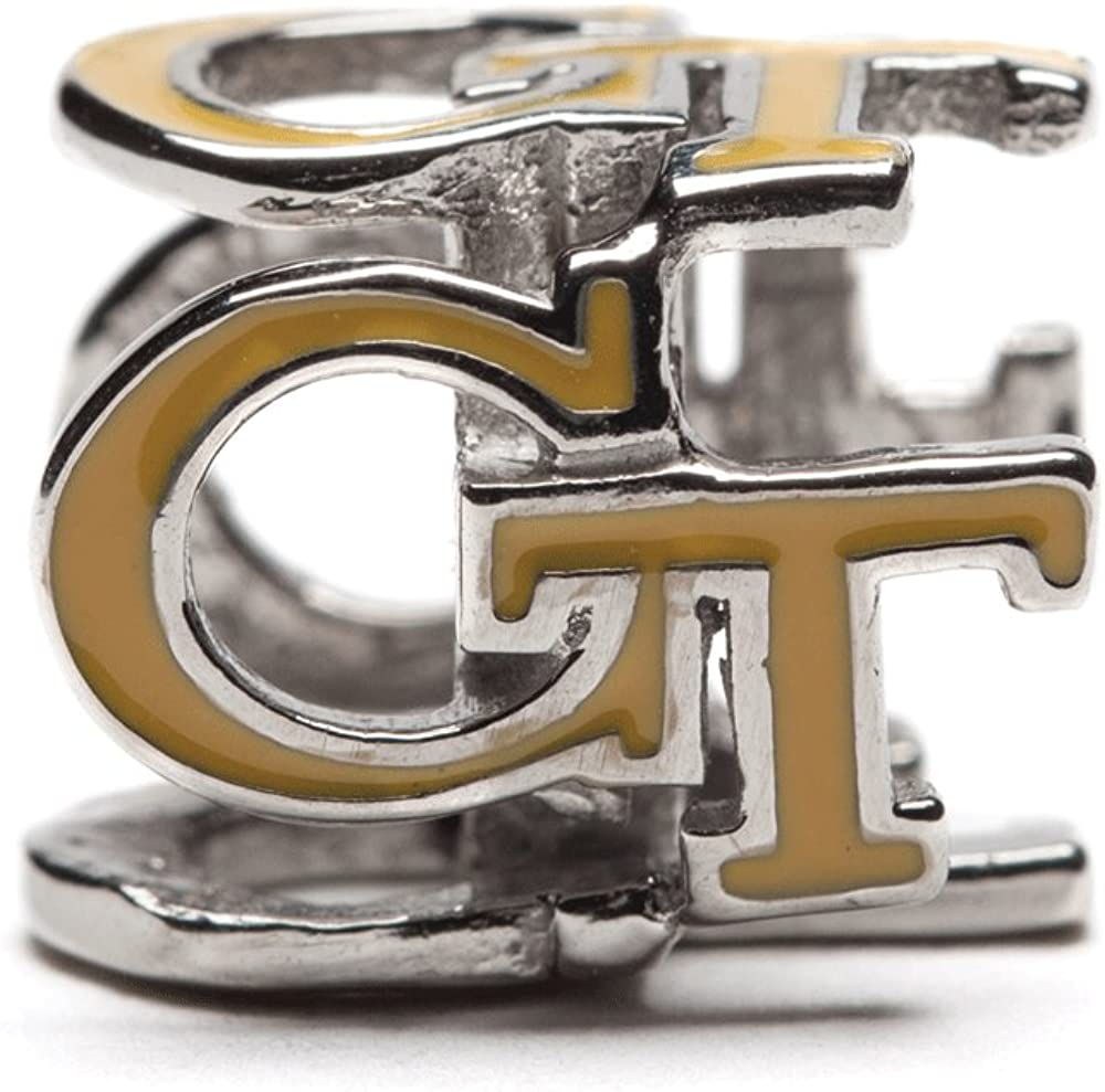 Georgia Tech Charm Our shop OFFers Super popular specialty store the best service GT Yellow Jackets Gold - Colored Block 4