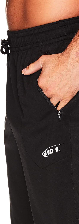 AND1 Mens Basketball Gym /& Running Sweat Shorts w//Elastic Drawstring Waistband /& Zipper Pockets