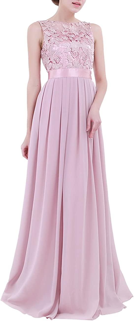 Free shipping New ACSUSS Women's Crochet Lace Long Beach Mall Gown Bridesmaid Evening Wedding