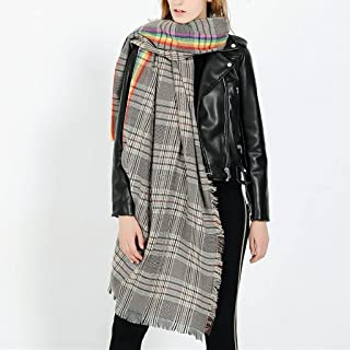 SKREOJF Stripe de cachemire à imitation WONMEN Garde le châle chaud châle en automne châle épais de chaleur de chaleur (Co...