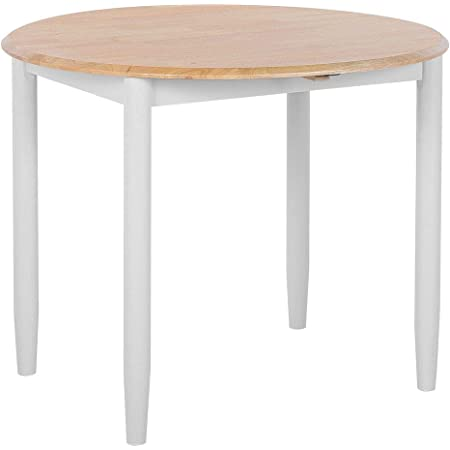 Beliani - Table Extensible - Omaha - 60/92 x 92 cm, en Bois, Marron et Gris