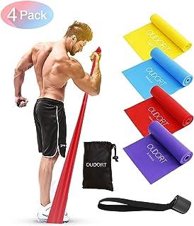 Oudort - Juego de 4 bandas de fitness, bandas de