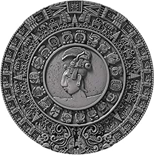 2018 NU Ancient Calendars PowerCoin MAYAN CALENDAR Archeology Symbolism 2 Oz Silver Coin 5$ Niue 2018 Antique Finish