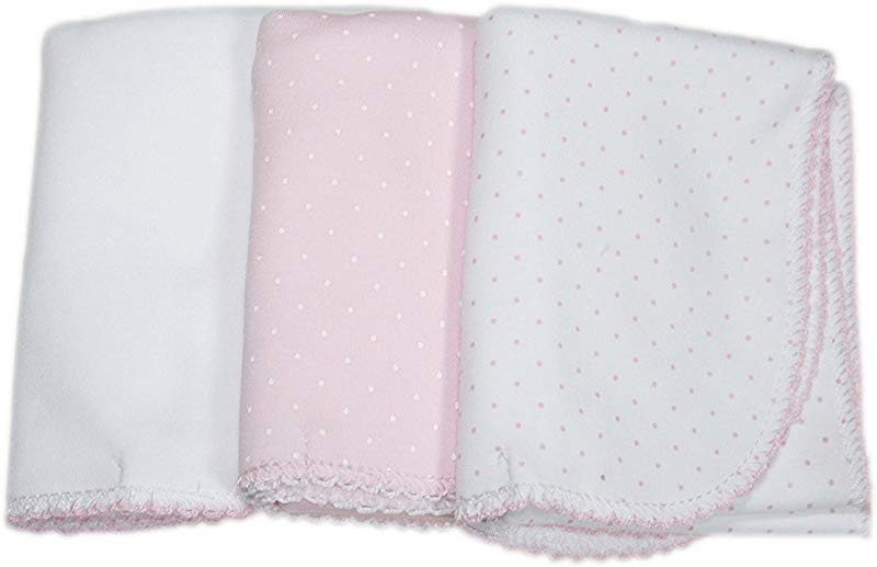 Kissy Kissy Baby Sets Dots Three Pack Of Burp Pads