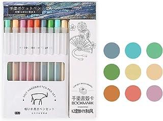Doraking 9PCS 0.5mm Cute Colorful Retractable Refillable Bullet Tip Gel Ink Pens, Stationery Gel Pen for Writing (Light)