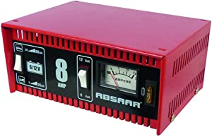 Absaar 77911 Battery Charger AMP 6 12 for Motorbikes