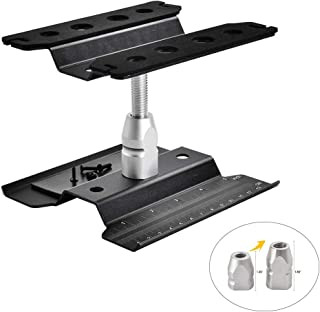 XPURC Rc car Stand Repair Workstation Aluminum Alloy 360 Degree Rotation Lift Or Lower for Rc car 1/12 1/10 1/8 (Black)