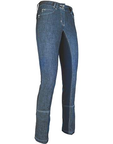Pantalones de equitaci/ón para Hombre Tejido Vaquero, Agarre Completo Harrys Horse Liciano