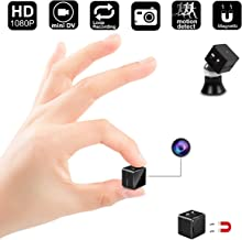 Mini Spy Hidden Camera,1080P Portable Small HD Nanny Cam with Motion Detective and Magnetic Attachment,Perfect Indoor Covert Security Camera for Home and Office