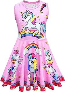 Dressy Daisy Girls Unicorn Dresses Unicorn Costume Fancy Party Dress Up Size 2-8