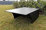 BBT@ Metall-Garage für Rasenmähroboter Schwarz Pulverbeschichtet / + Montage-Material / Tiefe: 90 cm - Breite: 65 cm - Höhe: 34 cm / Bester Schutz für Ihren Roboter vor Wind Wetter UV-Strahlung