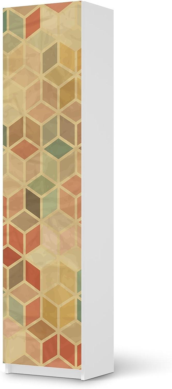 Bedruckte Klebe-Folie für Pax Schrank 201 cm Höhe - 1 Tür I ...
