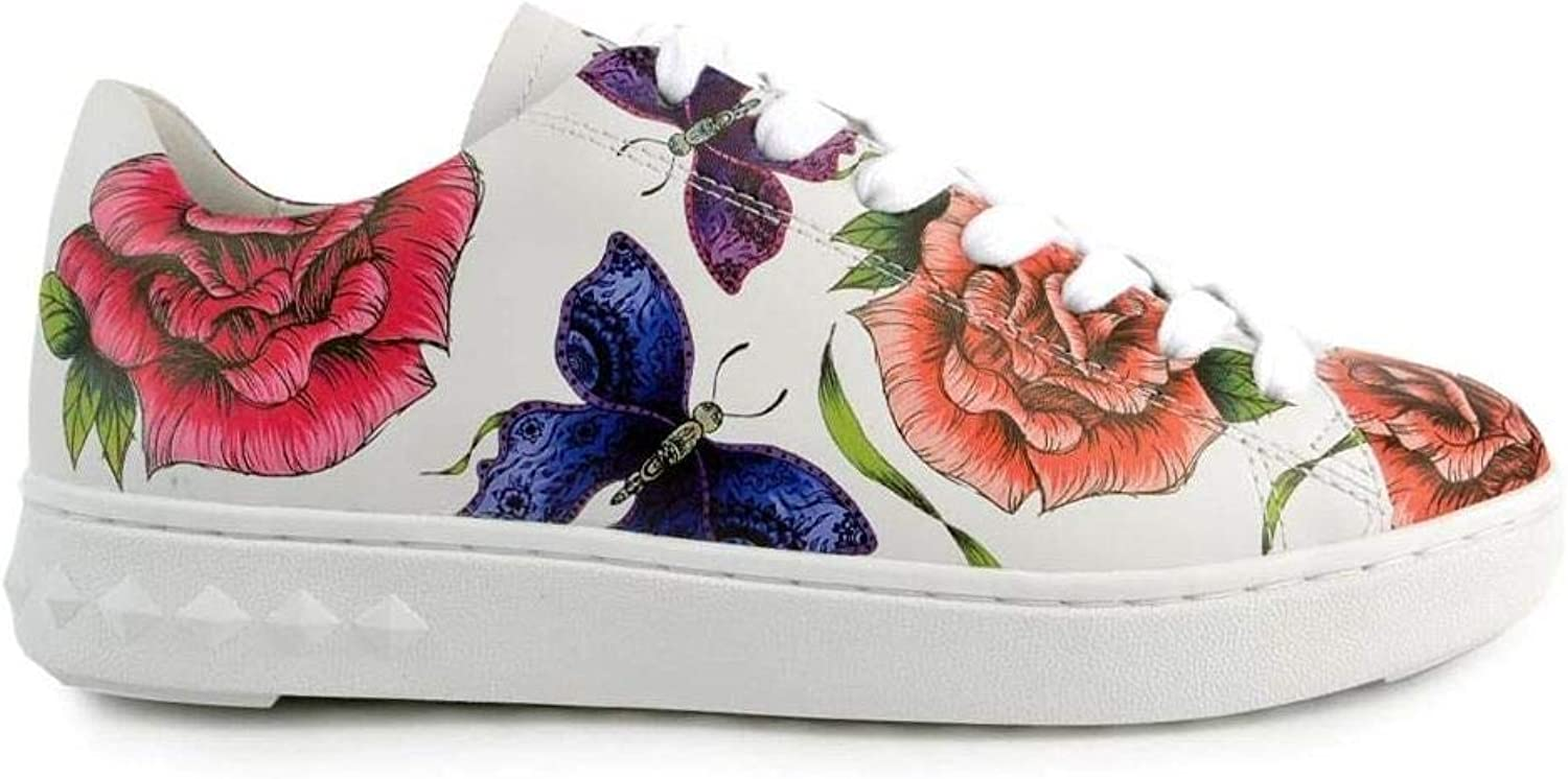 ASH - Peace Trainers in Weiß Leather with floral Prints Prints - S18 PEACE01-40  niedrigste Preise