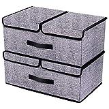 homyfort Boîte de Rangement Pliable avec Couvercle, Cube, Boîte Range pour Vêtement, Décoration, Sous-vêtements, Jouets,...
