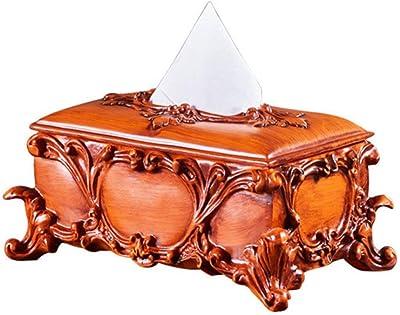 XIAOYUB Caja De Papel De Gama Alta Caja De Tejido De Resina Creativa Caja De Papel De La Servilleta De La Mesa De Café del Hogar Simple: Amazon.es: Hogar