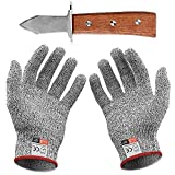 Oyster Coltello Guanti anti-taglio con paio di guanti anti quotidiano Cuts Livello 5 di protezione EN 388 certificato (cucina, giardinaggio, fai da te) (Medio)