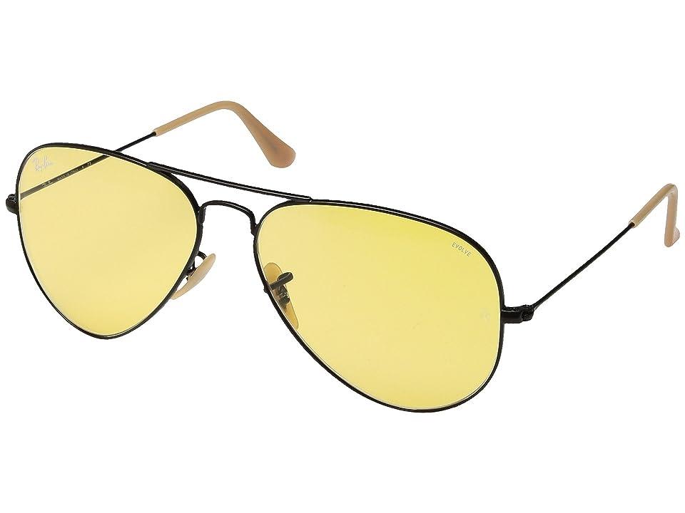 Ray-Ban RB3025 Original Aviator 58mm (Black/Photo Yellow) Metal Frame Fashion Sunglasses