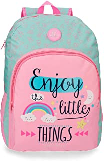 Roll Road Little Things Sac à dos adaptable au chariot Rose 33x44x13,5 cms Polyester 19.6L