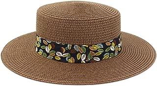 Lei Zhang Spring Summer Straw Sun Hat Beach Travel Tourism Beach Hat Sun Visor New Women Color Leaf Printing Flat Cap