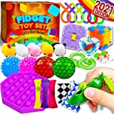 Peertoys Sensory Fidget Toys Pack for Kids - Figetget Toy Box Set Cheap Fidgets Anxiety Relief Mochi Squishy Figet Toy Bundle for Autistic ADHD Party Gift Adult Children Kids Ages 5 6 7 8 9 10 11+