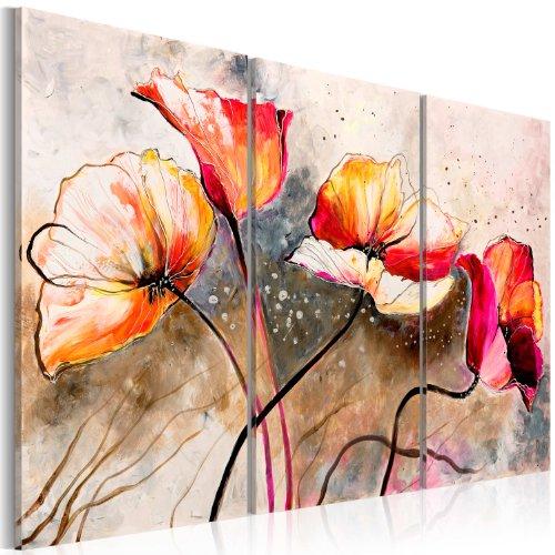 murando - Cuadro en Lienzo 120x80 cm Impresión de 3 Piezas Material Tejido no Tejido Impresión Artística Imagen Gráfica Decoracion de Pared Flores 22353