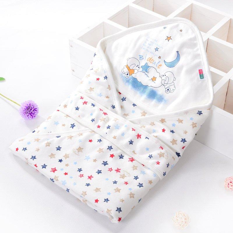 新生儿包被纯棉婴儿抱被抱毯夏季薄款被子襁褓包巾宝宝用品 6173款 (卡通色)