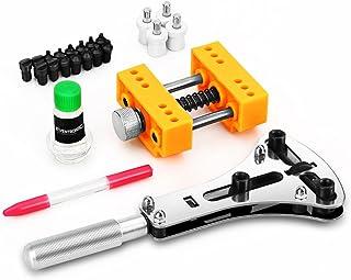 Kit Réparation Montre, Eventronic Outil de Montre Visée Pour Ouvrir La Table Arrière de Montre Watch Case Opener