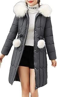Macondoo Women Casual Outwear Cotton-Padded Hoodie Puffer Down Jacket