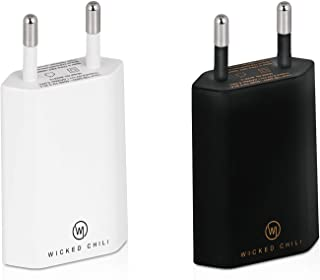 Wicked Chili 2x Pro Series Power Adapter USB Adapter compatibel met Apple iPhone, Samsung Galaxy/Mobile Phone Charger, Sma...