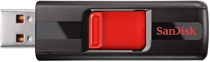 SanDisk 128GB Cruzer USB 2.0 Flash Drive - SDCZ36-128G-B35, Black/Red