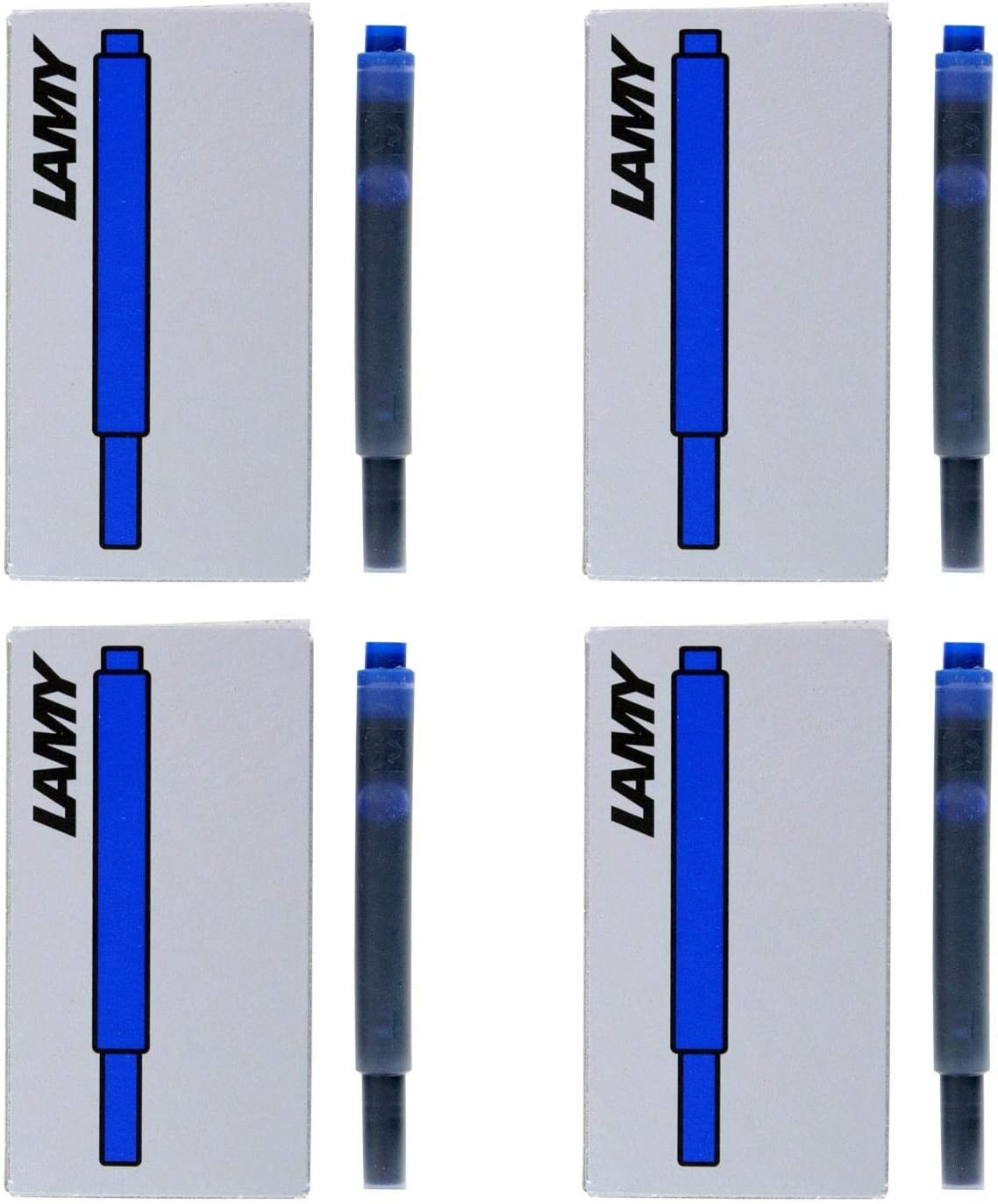 LAMY T10BL Ink Cartridge For Fountain Pens 5 Count Blue Washable