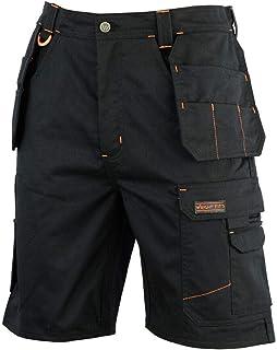 WrightFits Men Redhawk Holster Work Shorts Black, Grey & Khaki - Heavy Duty Safety Combat Cargo Summer Shorts - Multi Pock...
