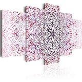 murando - Cuadro de Cristal acrilico 200x100 cm Impresión de 5 Piezas Pintura sobre Vidrio Imagen Gráfica Decoracion de Pared Mandala Oriental f-C-0133-k-p