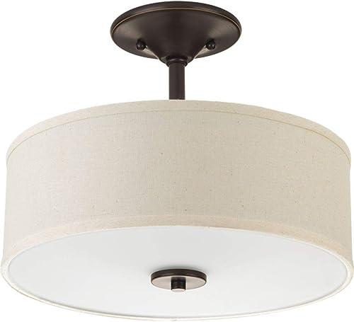 lowest Progress online sale Lighting P3712-20 Inspire discount Close-to-Ceiling, Bronze online