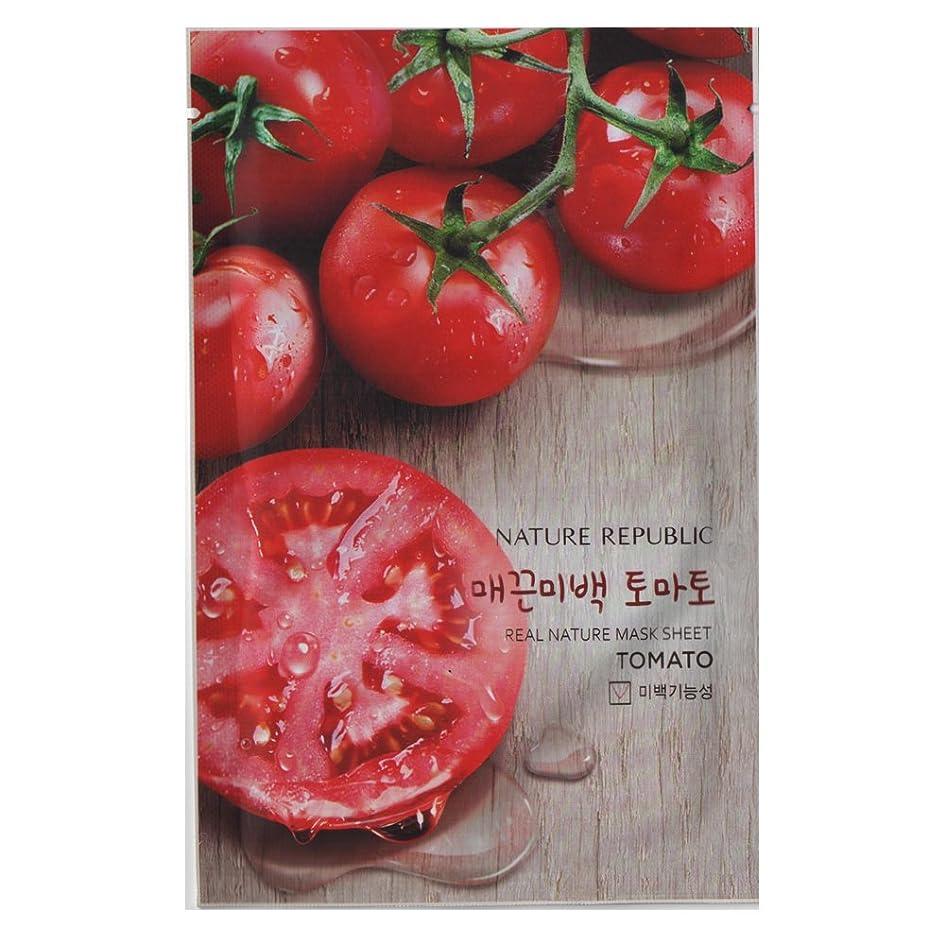 瞑想的ヒョウ描く[NATURE REPUBLIC] リアルネイチャー マスクシート Real Nature Mask Sheet (Tomato (トマト) 10個) [並行輸入品]