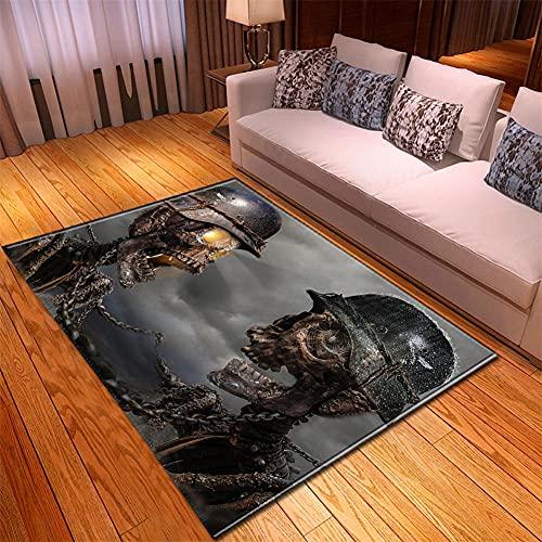 Jfojoo Alfombra De salón Moderna Diseño Geométrico Suave Antideslizante Lavable No te...