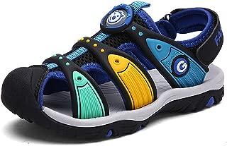 JACKSHIBO Boys Girls Breathable Closed-Toe Sandals,Outdoor Sport Strap Sandals for Kids(Toddler/Little Kid/Big Kid)