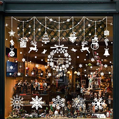 Pegatinas de Navidad para Ventanas de Ambiente Navideño