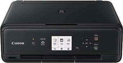 Canon PIXMA TS5050 Drucker Farbtintenstrahl Multifunktionsgerät DIN A4 (Scanner, Kopierer, Fotodruck, 4.800 x 1.200 dpi, WLAN, 5 separate Tinten, Apple AirPrint, Print App) schwarz