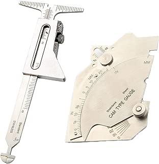 Breynet Hi-Lo Welding Gage + Inch&metric Welding Gauge Test Ulnar Welder Inspection Bridge Cam Gage Test Weld Gauge MG-8 for Welding Measurement Tools