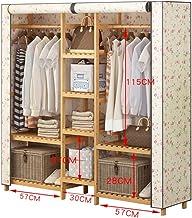 Râteliers multi-usages Manteau Rack étage Garde-Robe Moderne Beige Tissu Couverture Chambre Pendaison Rack Stockage Sac Ra...