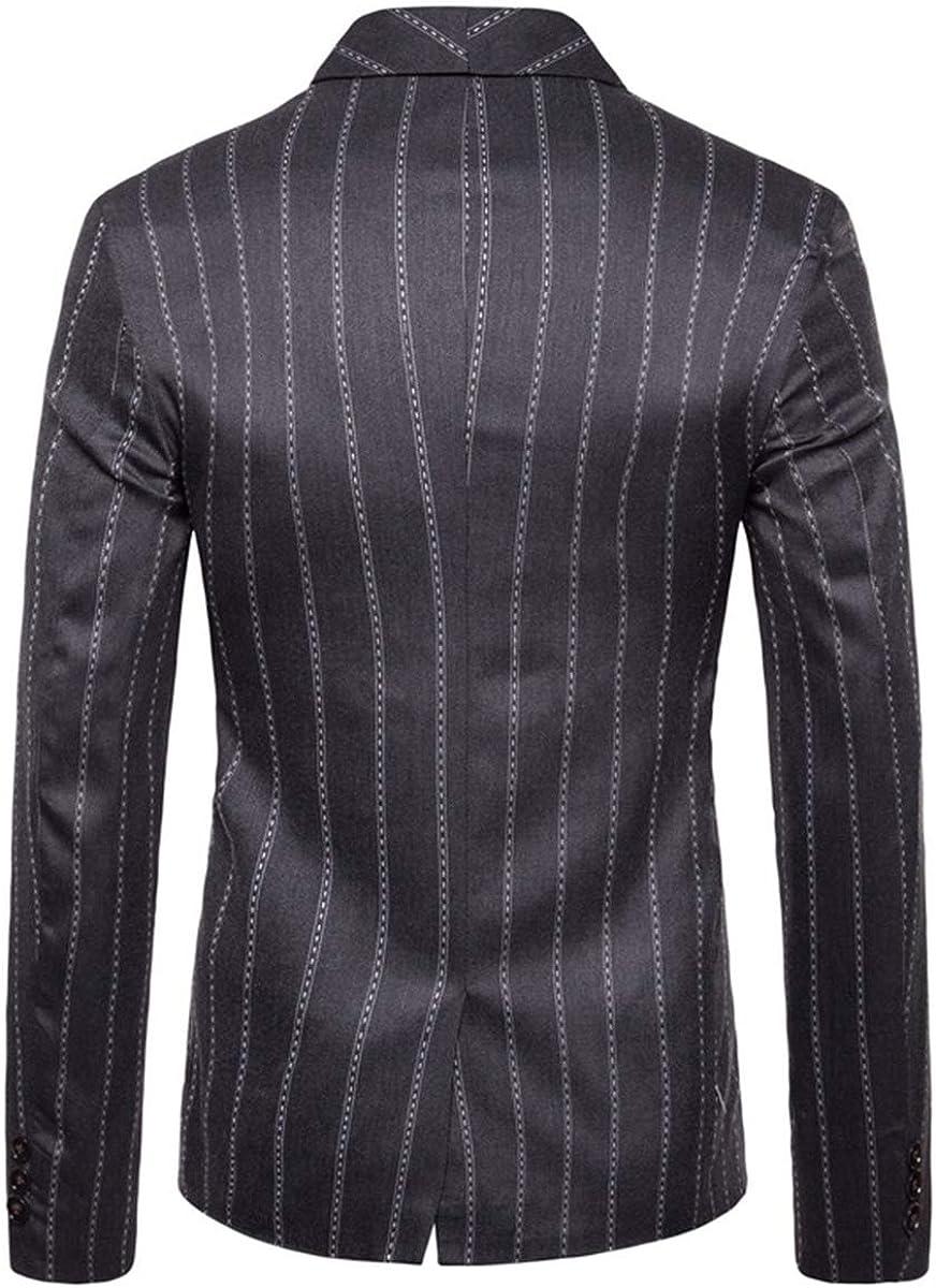 QZH.DUAO Mens Plaid Striped Blazer Jacket